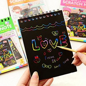Fun DIY Doodling Scratch Painting Book Kids Children Educational Toys by FisRod