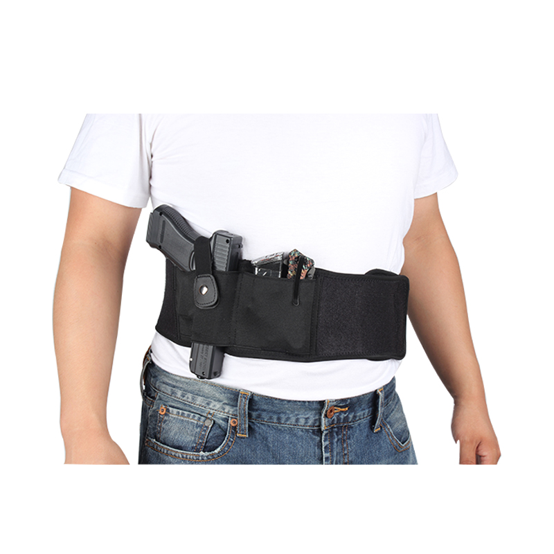 Tactical Concealed Carry Belly Band Holster w/Magazine Pouch for  Pistols/Revolvers - Right Handed - Outside/Inside The Waistband Carry  (OWB/IWB) - for